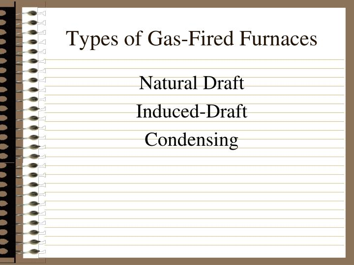 Types of gas fired furnaces