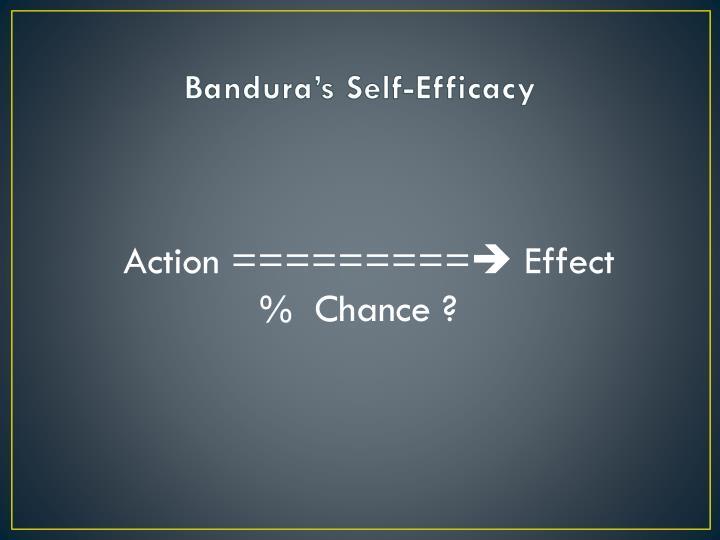 Bandura's Self-Efficacy