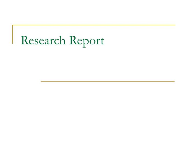 research report n.