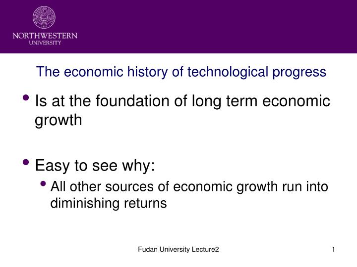 the economic history of technological progress n.