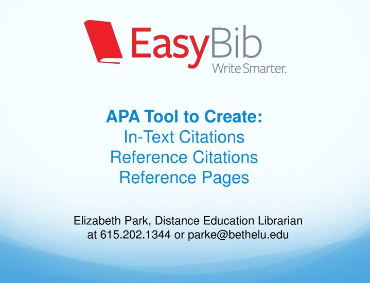 apa tool to create in text citations reference citations reference pages n.