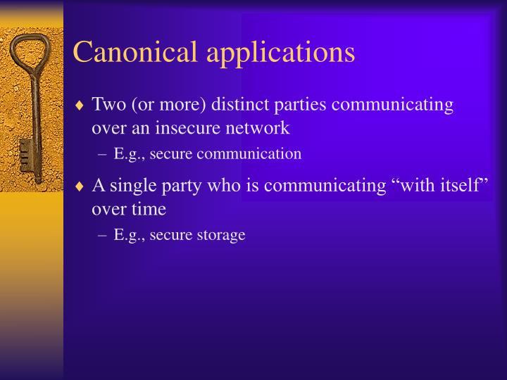 Canonical applications