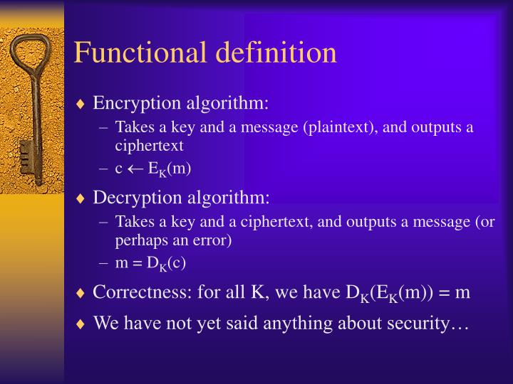 Functional definition