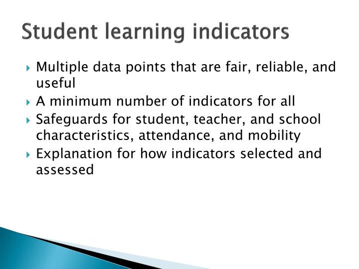 Student learning indicators