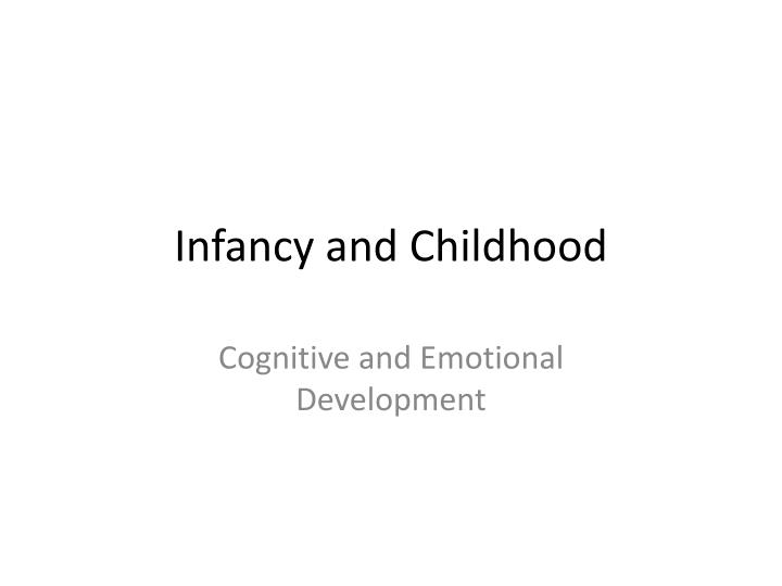 physical and cognitive development in early childhood Since early childhood is regarded as an important period of motor and cognitive development, understanding the effects of physical activity on motor skills and cognitive development in preschool children has major public health implications.