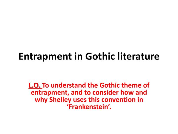 ppt - entrapment in gothic literature powerpoint presentation - id, Powerpoint templates