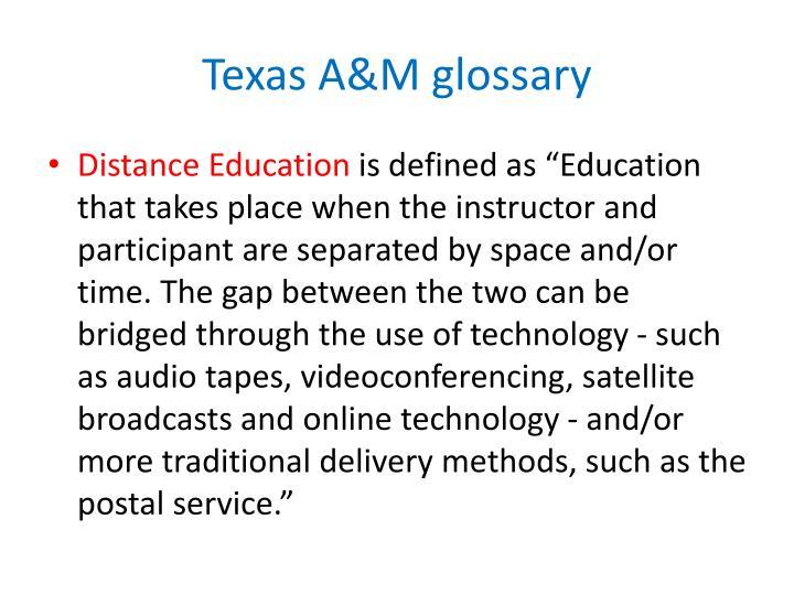 Texas a m glossary