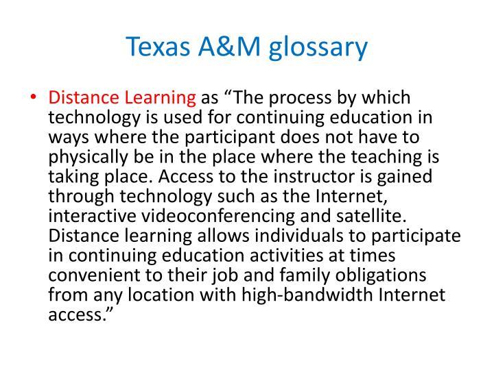 Texas A&M glossary