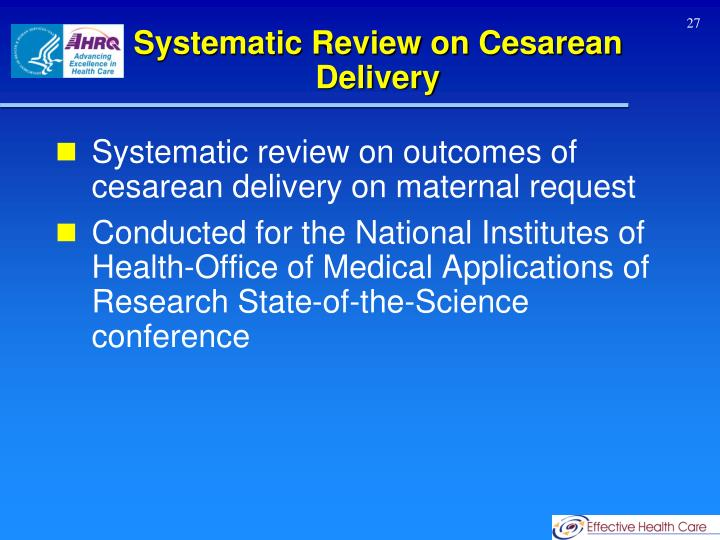 Systematic Review on Cesarean Delivery