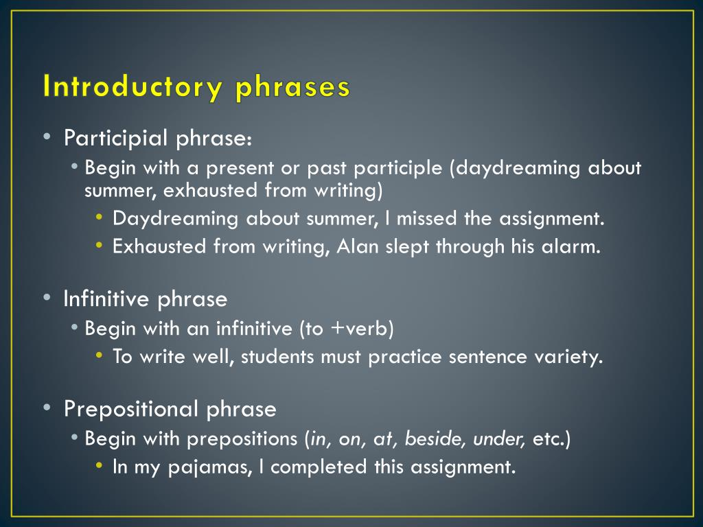 PPT - Sentences--Review PowerPoint Presentation - ID:2745966
