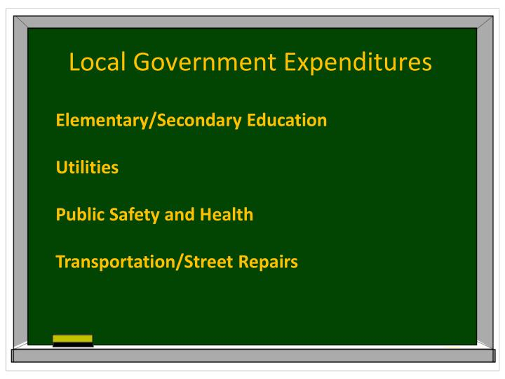 Local Government Expenditures