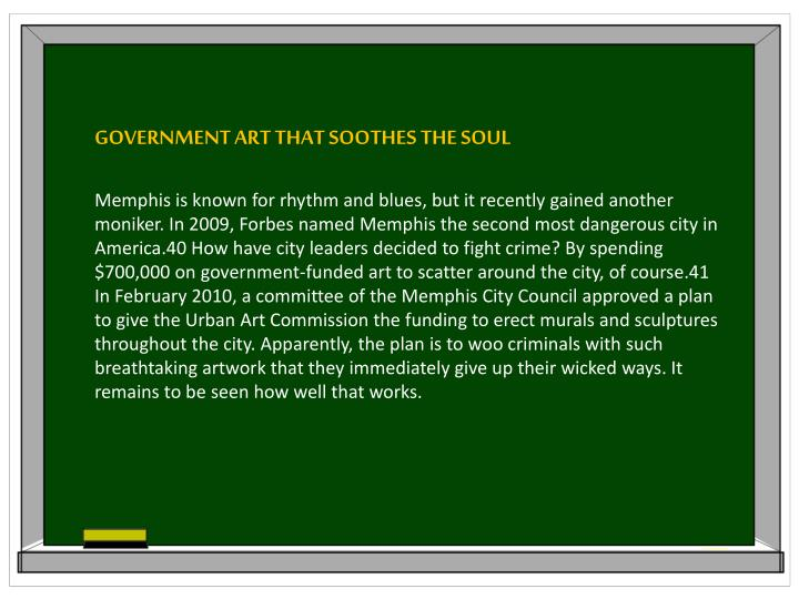 GOVERNMENT ART THAT SOOTHES THE SOUL