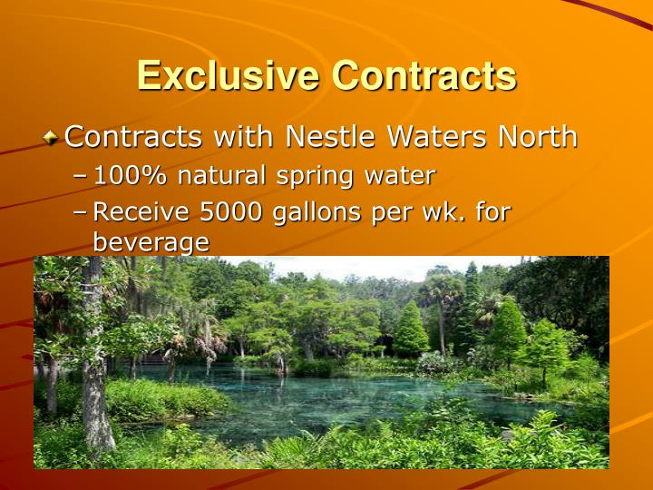 Exclusive Contracts