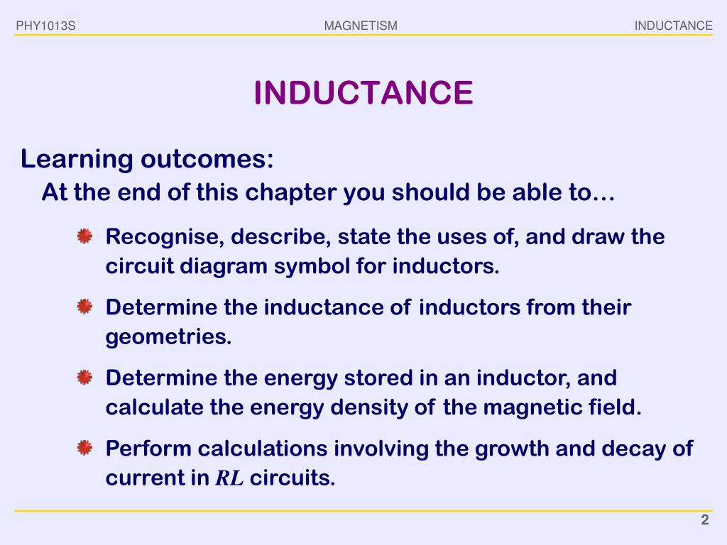 PPT - PHY1013S INDUCTANCE PowerPoint Presentation - ID:2746163