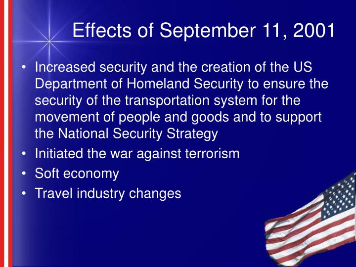 Effects of september 11 2001