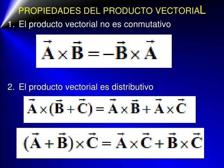 PROPIEDADES DEL PRODUCTO VECTORIA