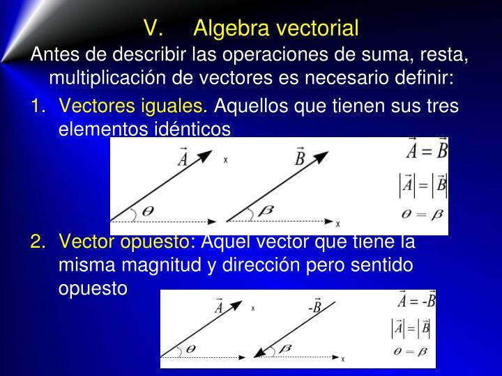 V.Algebra vectorial
