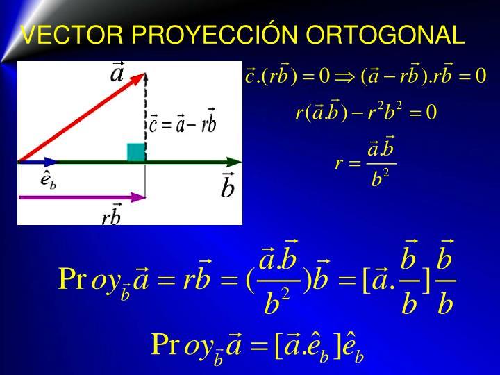 VECTOR PROYECCIÓN ORTOGONAL