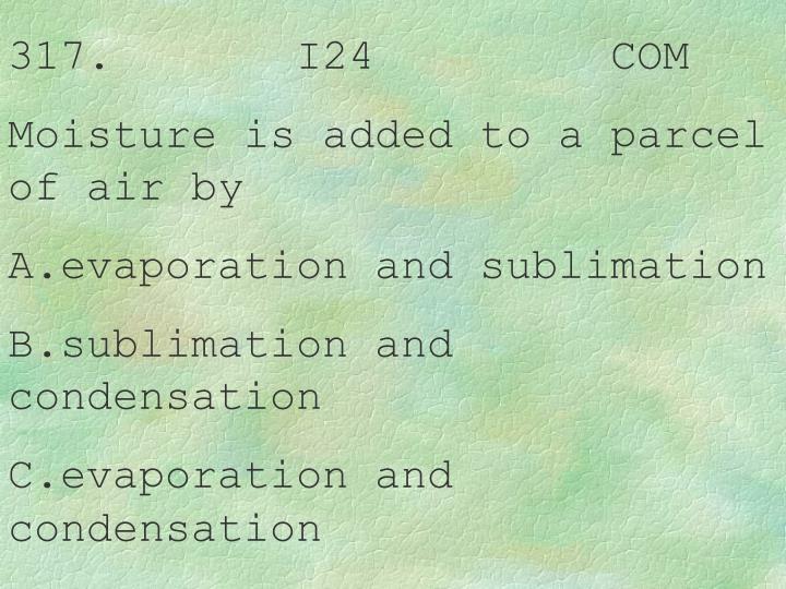 317.       I24         COM