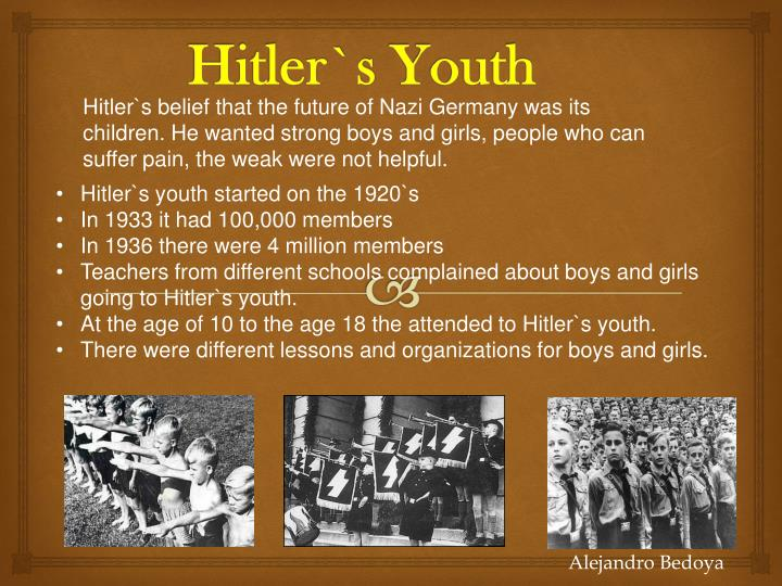 how did hitler come into power the hitler youth program