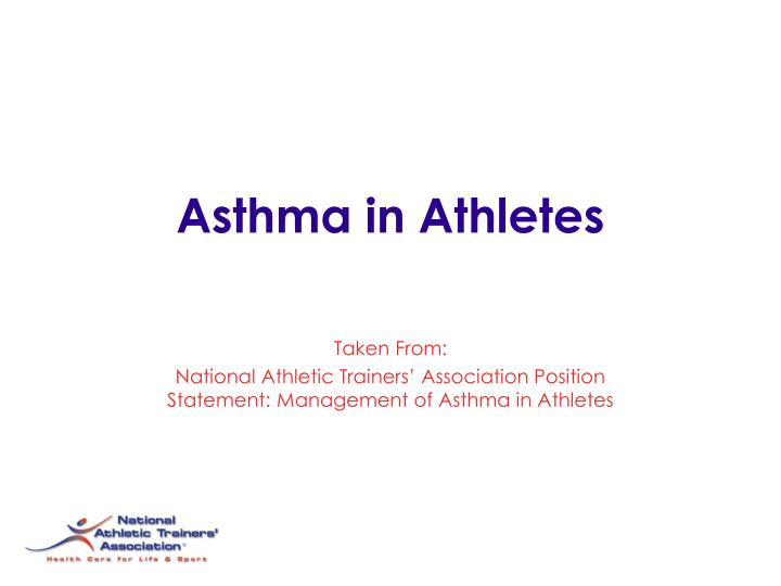 Asthma in athletes