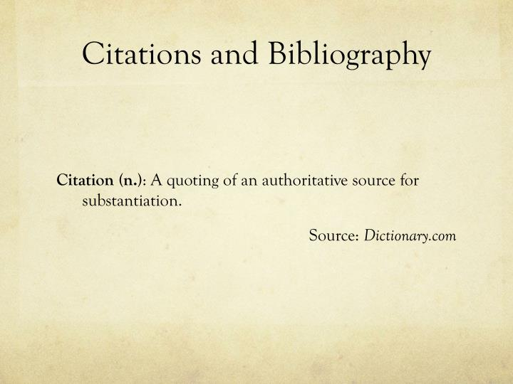 Citations and Bibliography