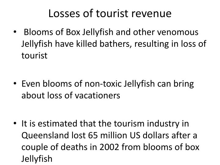 Losses of tourist revenue