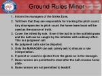 ground rules minor