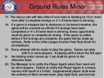 ground rules minor2