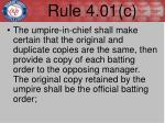 rule 4 01 c