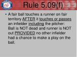 rule 5 09 f1