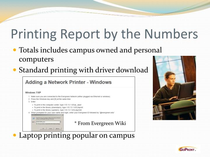 Printing Report by the Numbers