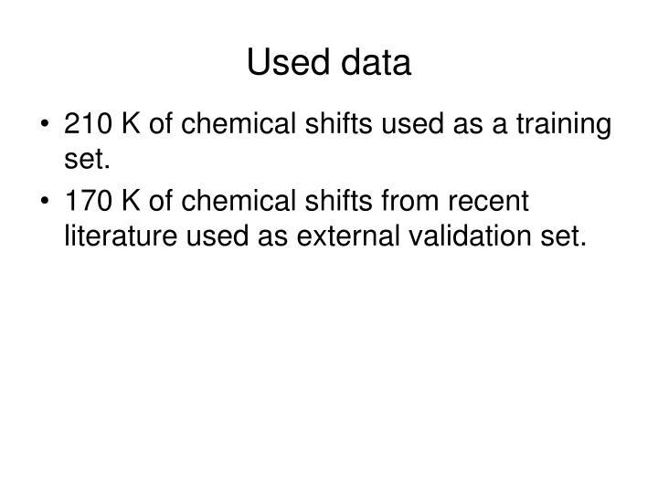 Used data