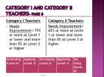 category i and category ii teachers page 81