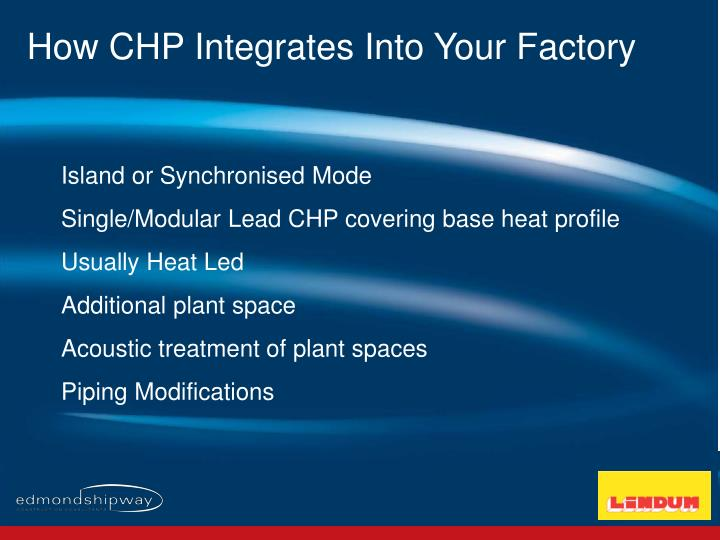 How CHP Integrates Into Your Factory