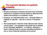 the economic literature on systemic instability