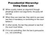 precedential hierarchy using case law
