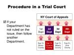 procedure in a trial court2