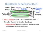 disk device performance 1 21