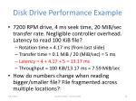 disk drive performance example
