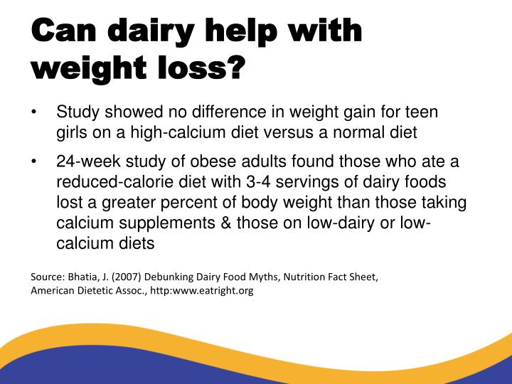 Can dairy help with weight loss?