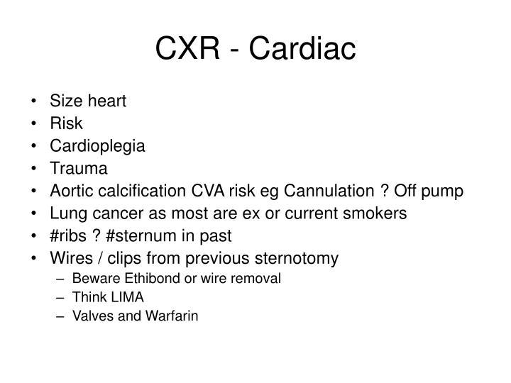 CXR - Cardiac