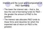 interest and the level and composition of r d spending