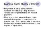 loanable funds theory of interest1