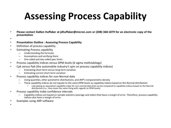 assessing process capability n.