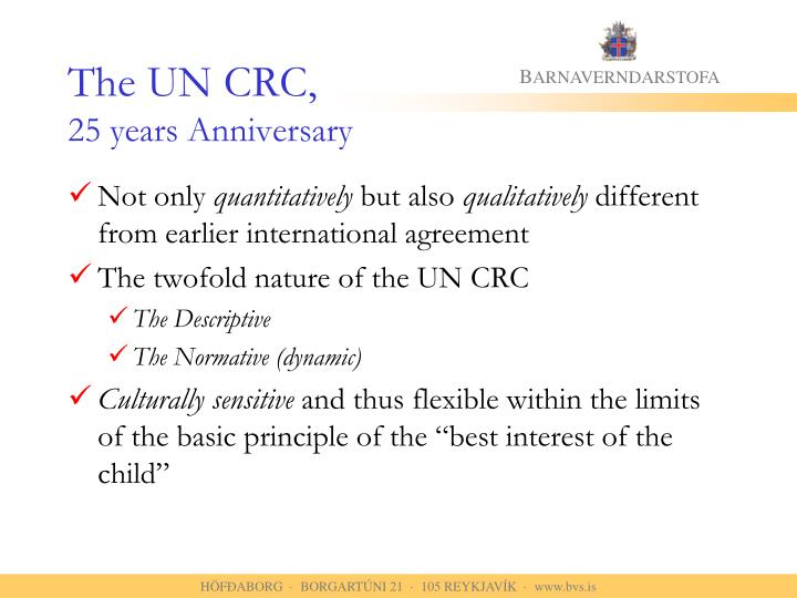 The un crc 25 years anniversary