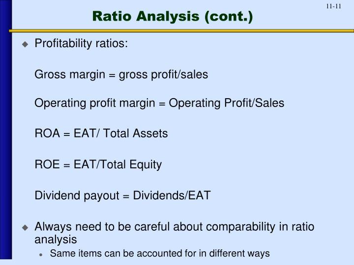 Ratio Analysis (cont.)