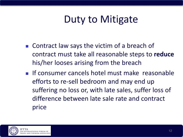 Duty to Mitigate
