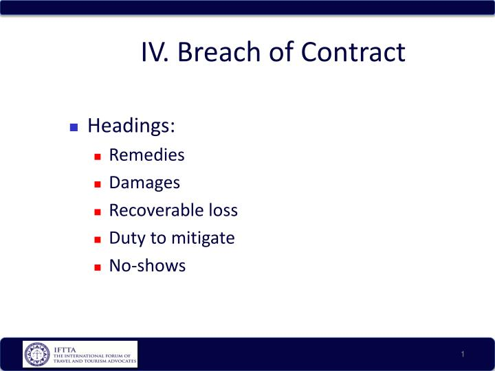 iv breach of contract n.
