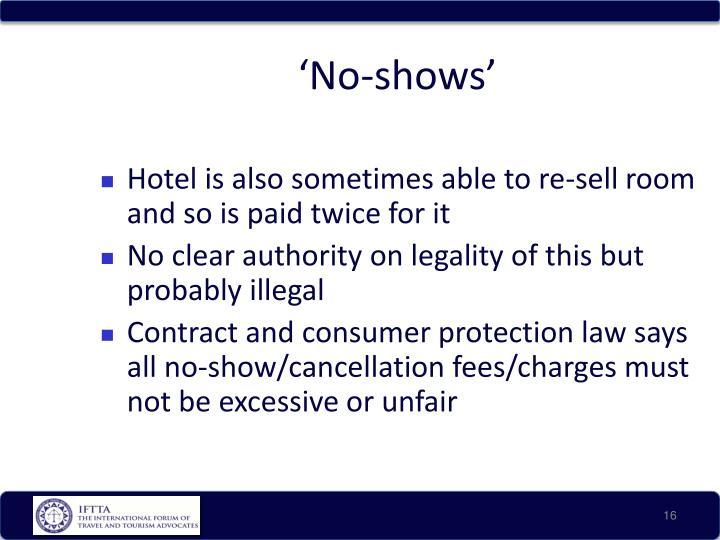 'No-shows'
